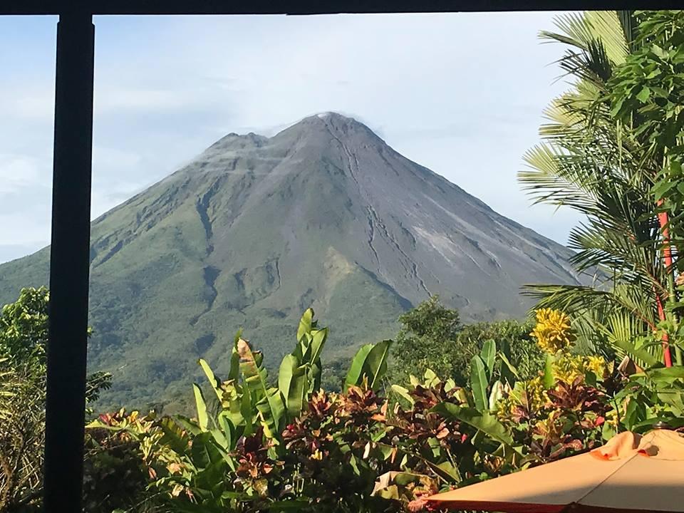view of valcano in costa rica