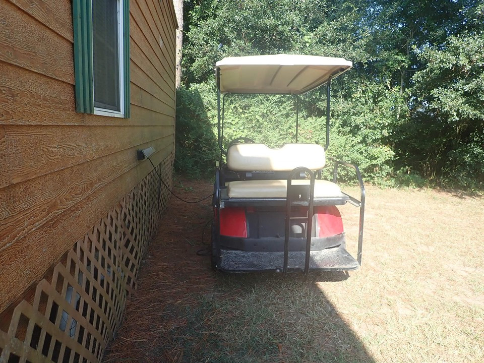 Golf Cart Charging Station at Jellystone Park