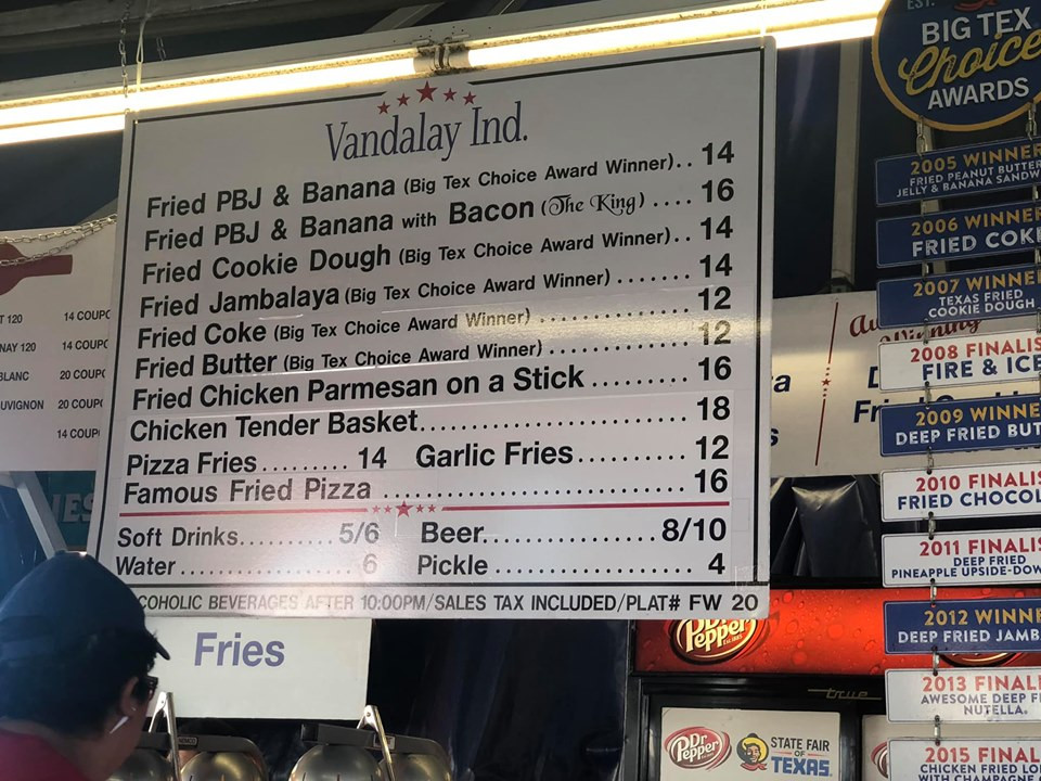 Fried Food at State Fair of Texas Dallas