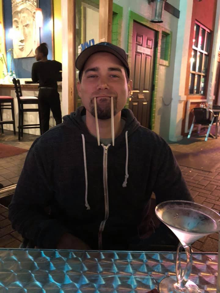 Being Silly at Sky Steak and Sushi Bar in Galveston