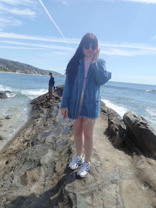 Enjoying the view at Laguna Beach