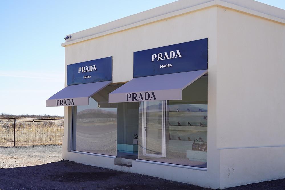 Outside Prada Marfa