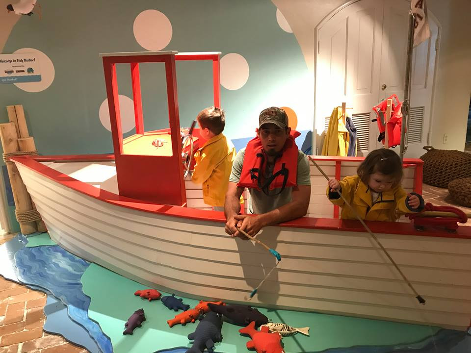 fishing at Galveston Children's Museum