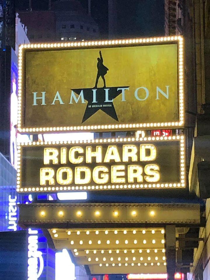 Alexander Hamilton Broadway Sign