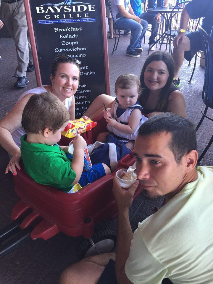 Having Ice Cream at Kemah Boardwalk