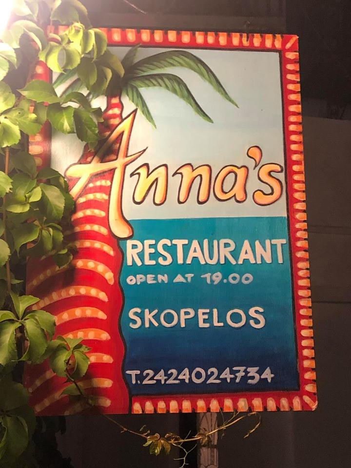 Anna's Resturant on Greek Island