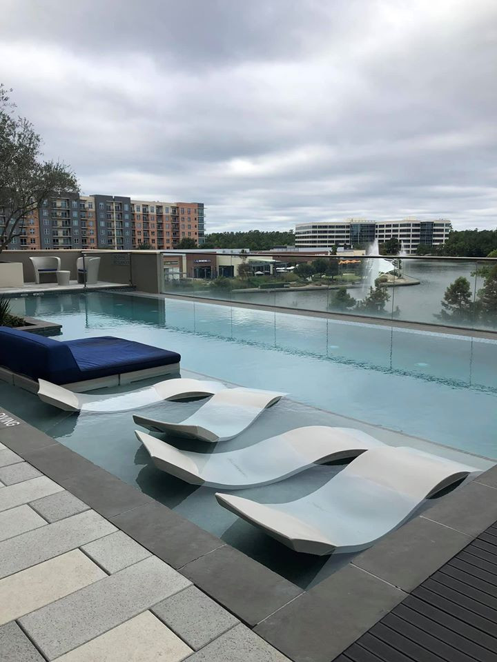Swimming Pool at mbassy Suites by Hilton, The Woodlands at Hughes Landing