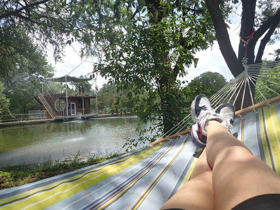 swing at Cypress Valley Canopy Tour in Austin, Texas
