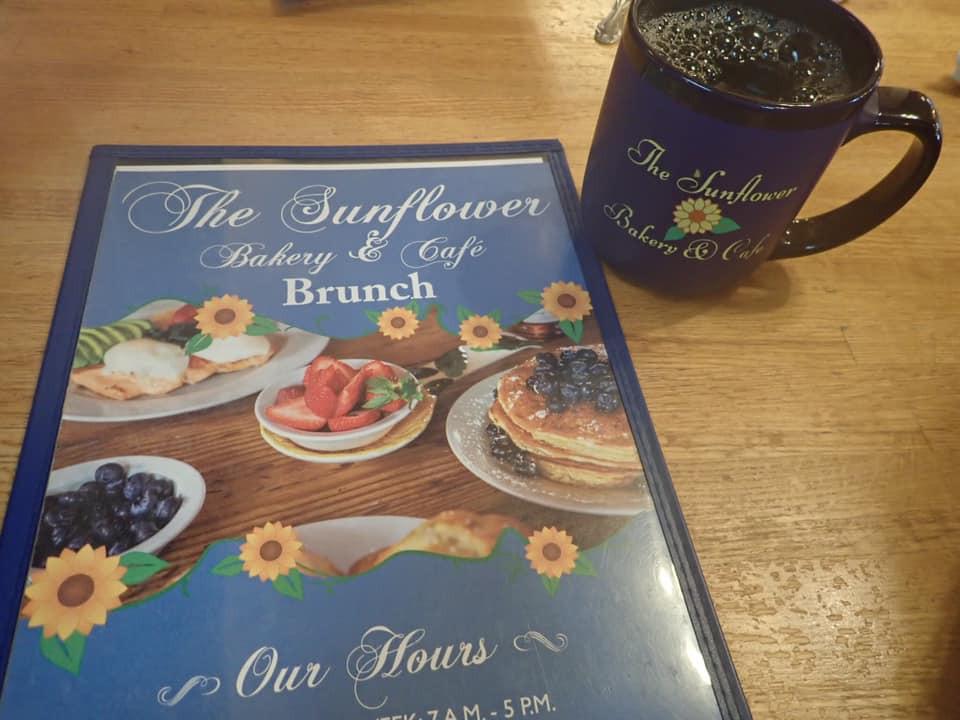 Menu The Sunflower Bakery & Cafe