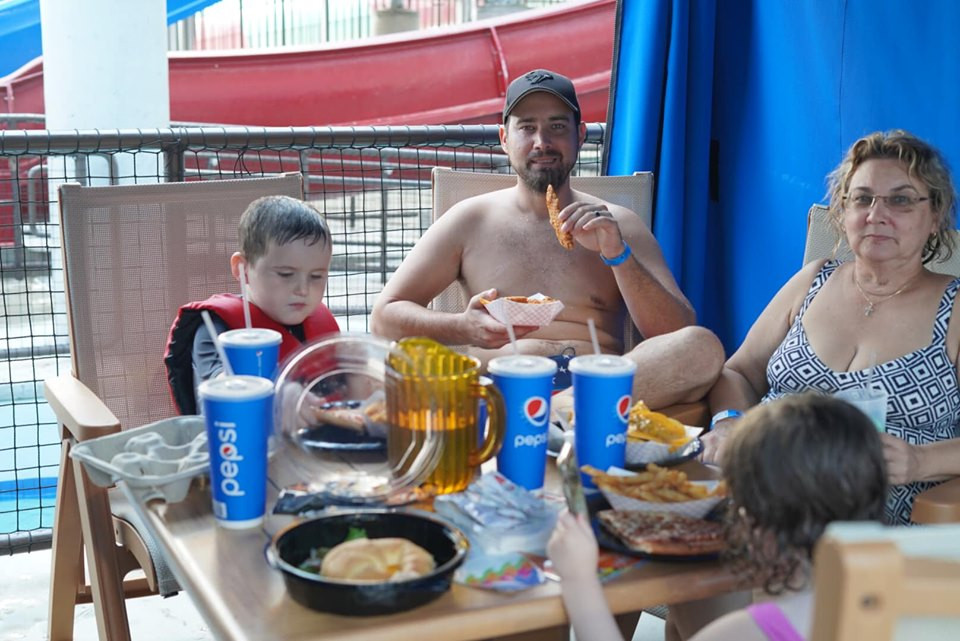 Food at Epic Waterpark in Dallas