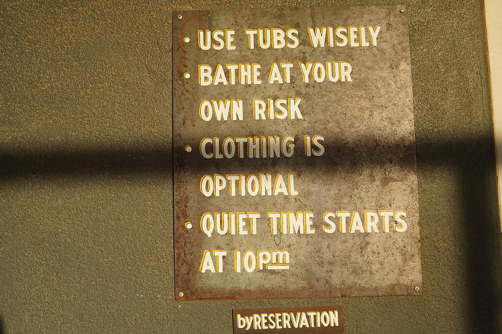 Rules at El Cosmico