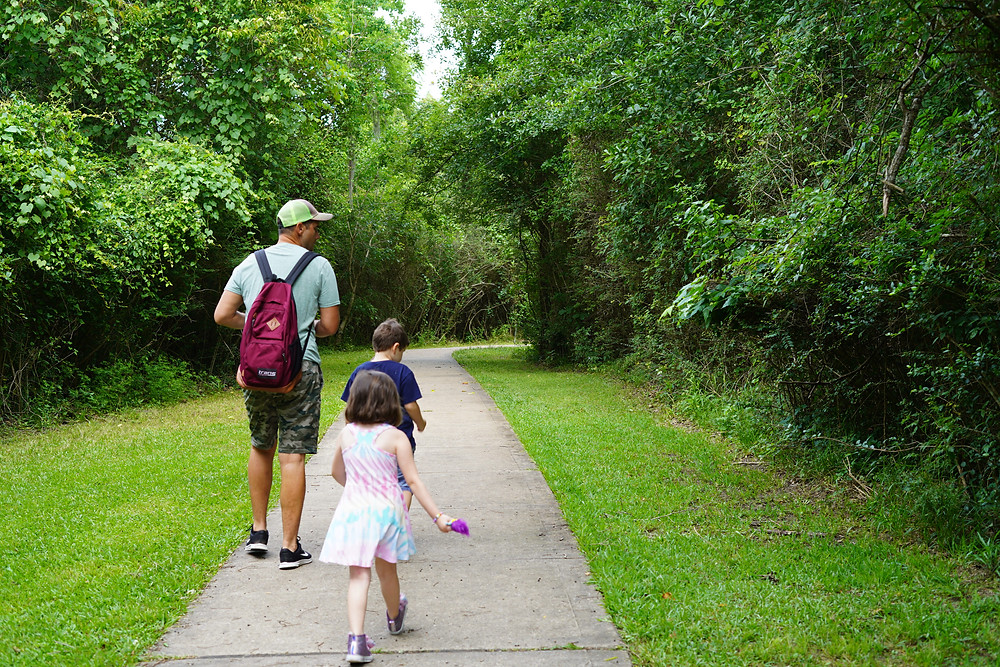 Hiking on well-maintained trails