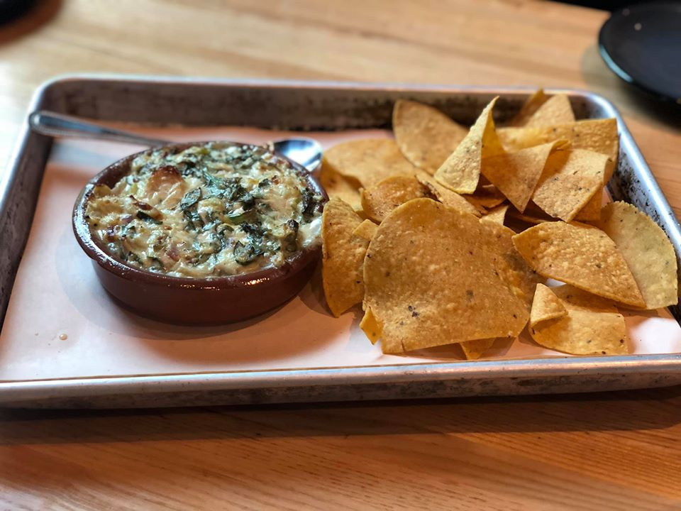 Baked chicken + spinach dip Fielding Wood Grill