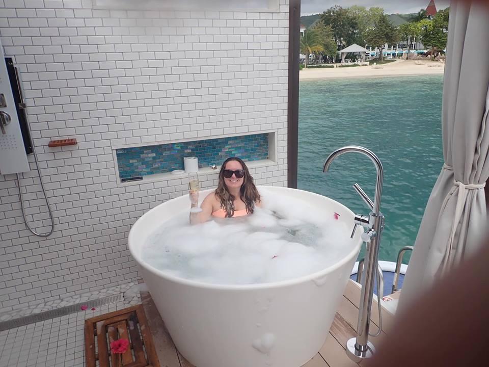 bubble bath overwater bungalows