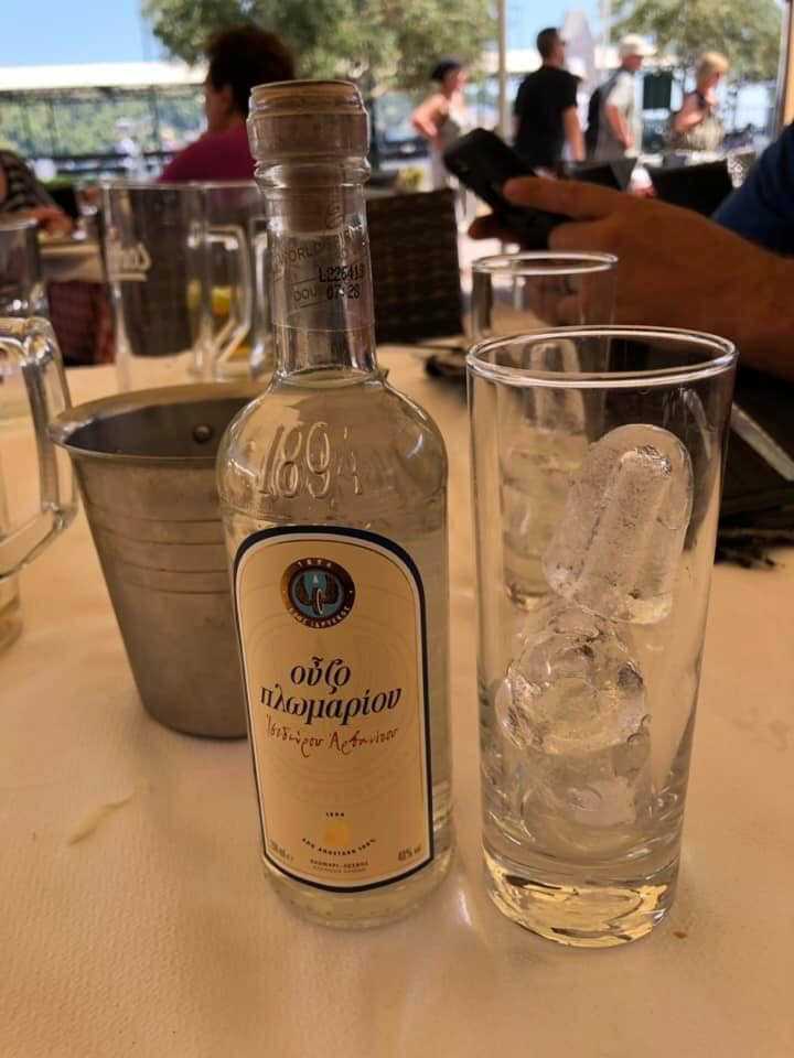 liquor on Skiathos Island in Greece