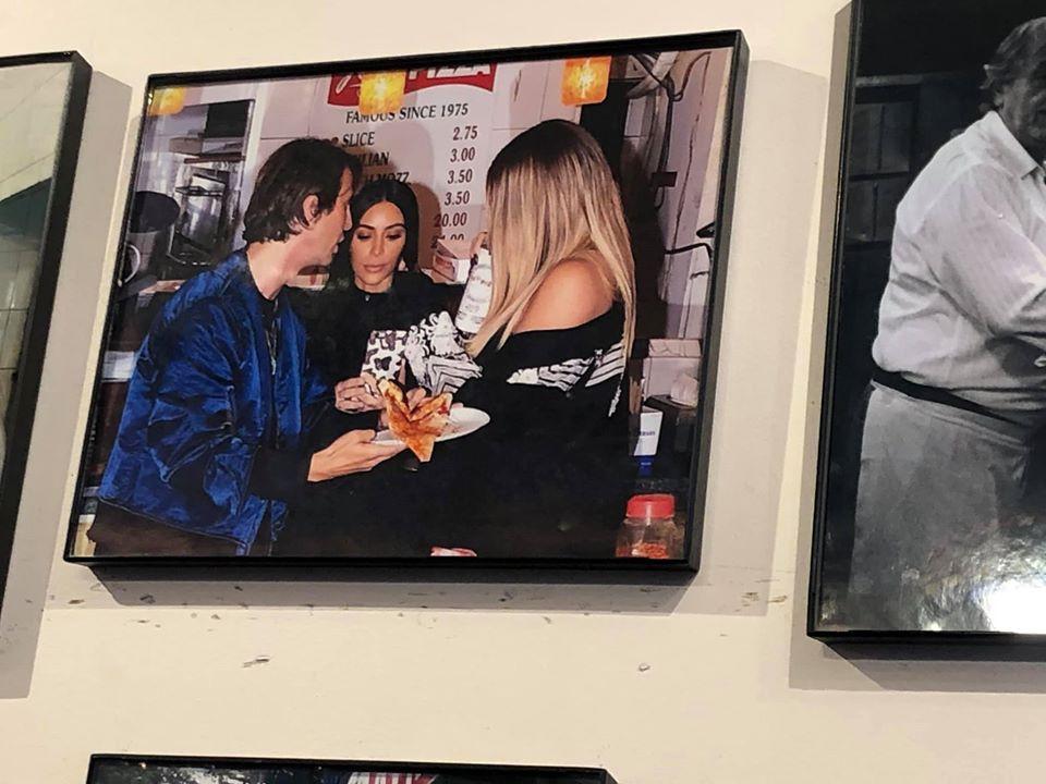 Kardashians Picture at Joe's Pizza