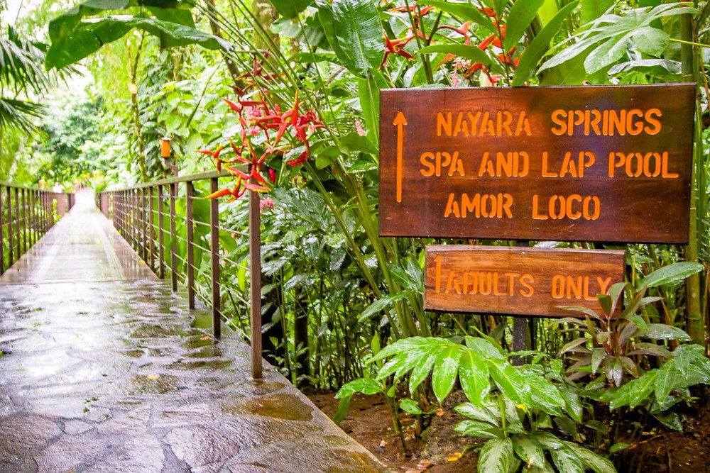 adult only section at Nayara Spa and Gardens in La Fortuna
