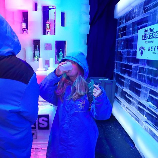 drinks in the Ice room