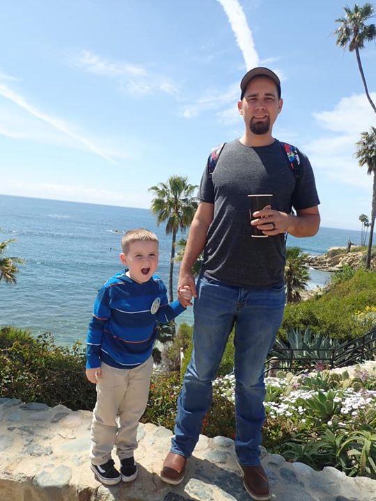 Father and son at Laguna Beach