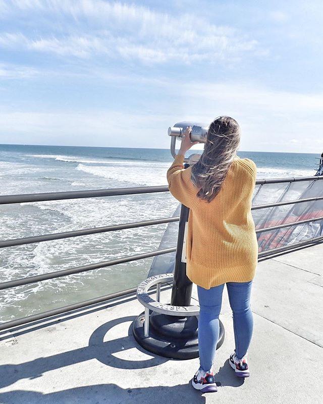enjoying view Huntington Beach Pier