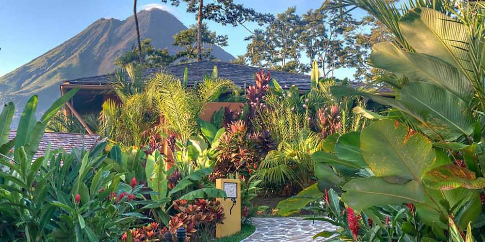 houses at Nayara Spa and Gardens in La Fortuna