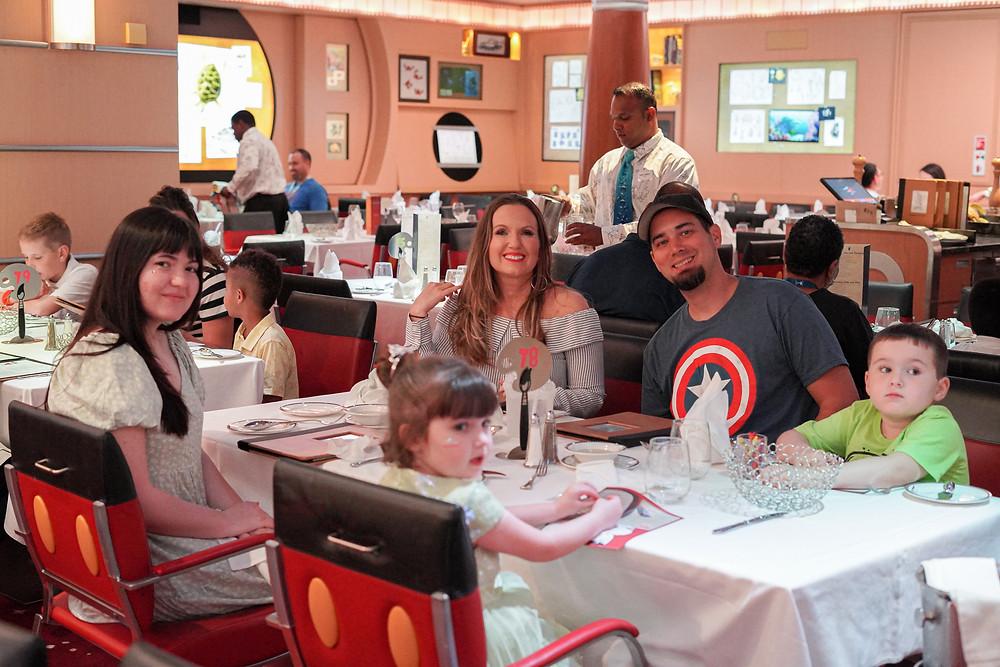 Dinner on Disney Dream Cruise