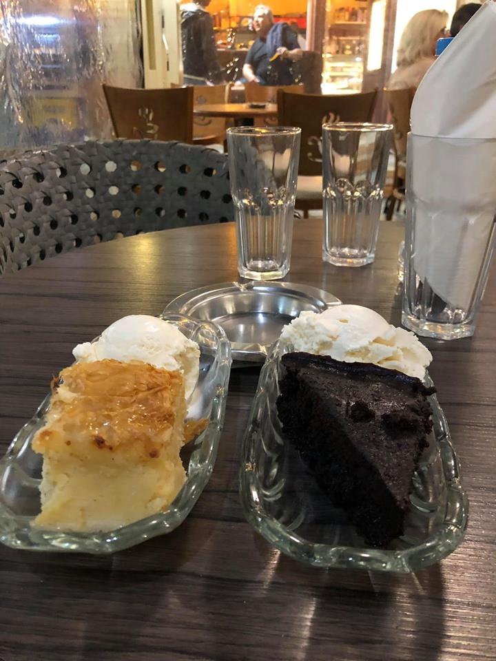 International Cafe on Greek Island