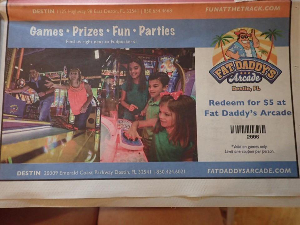coupons at fudpuckers in destin