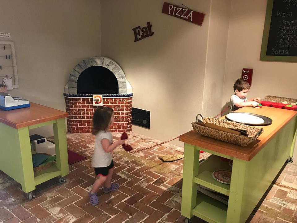 pizza at Galveston Children's Museum