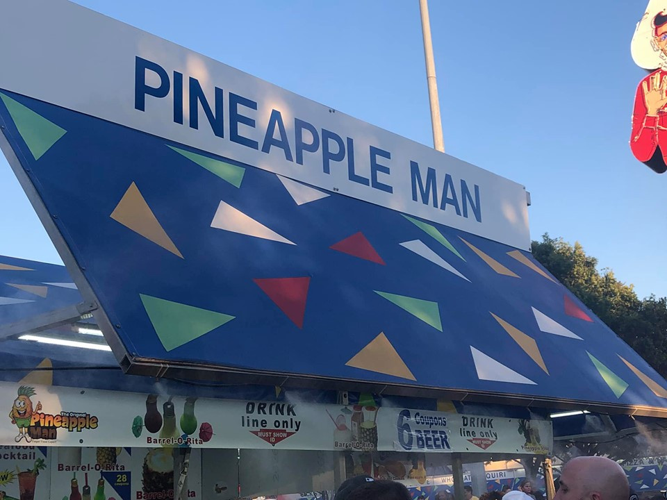 Pineapple Man at State Fair of Texas Dallas