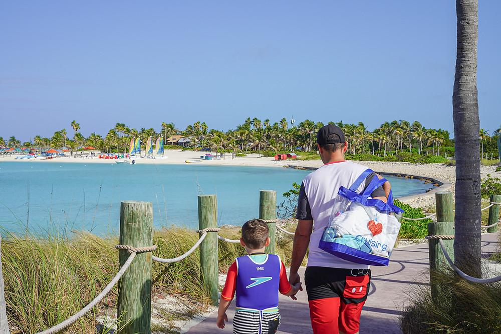 Walking around Castaway Cay