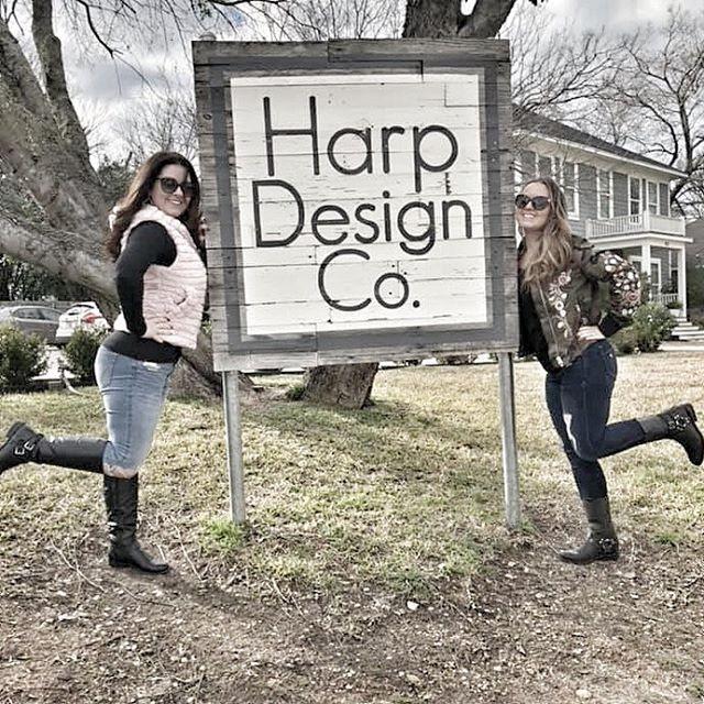 Harp Design Company Sign in Waco