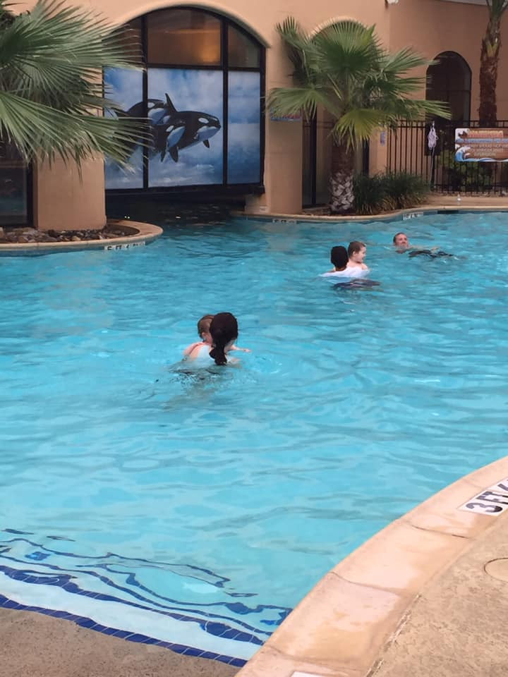 swimming at Courtyard by Marriott San Antonio