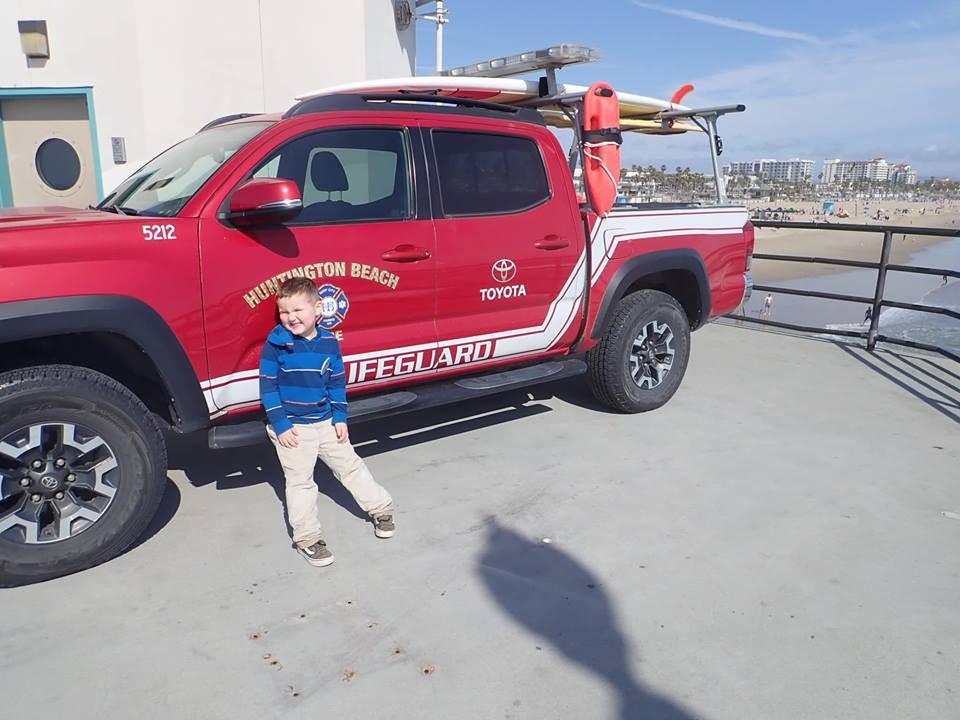 lifeguard truck Huntington Beach Pier
