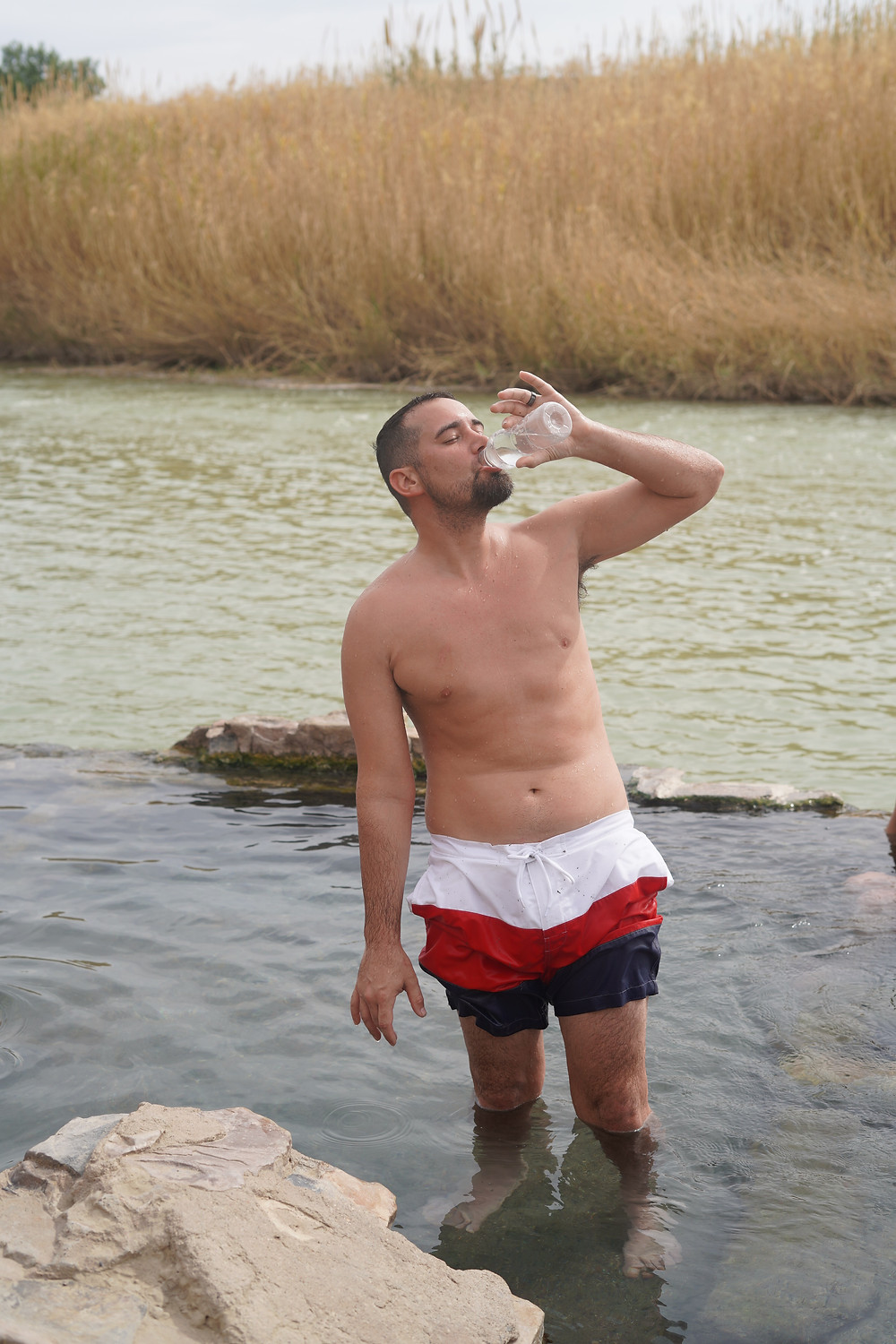 Drinking Water at Hot Springs