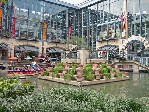 mall on river walk in San Antonio