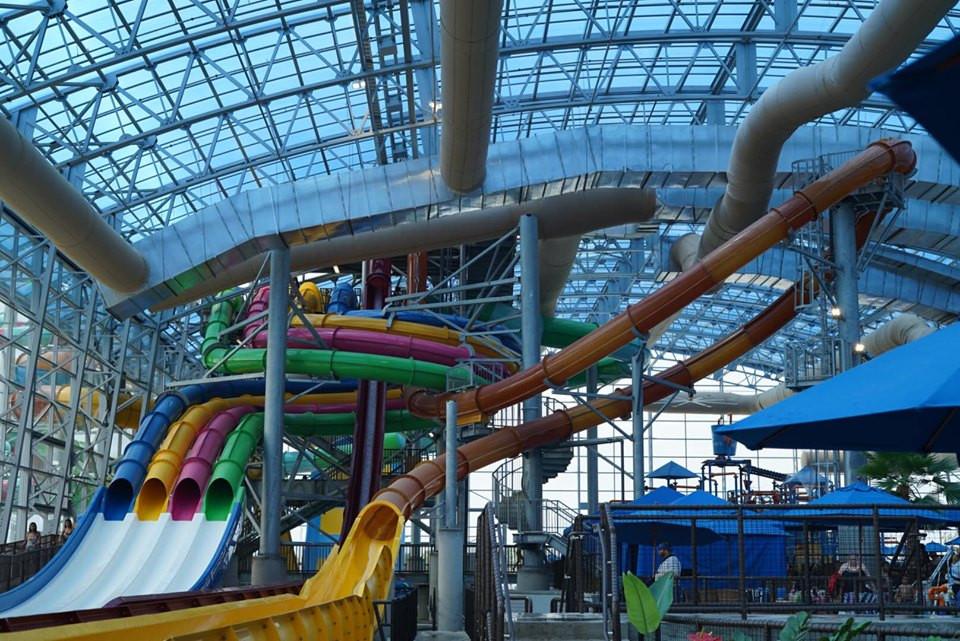 Slides at Epic Waterpark