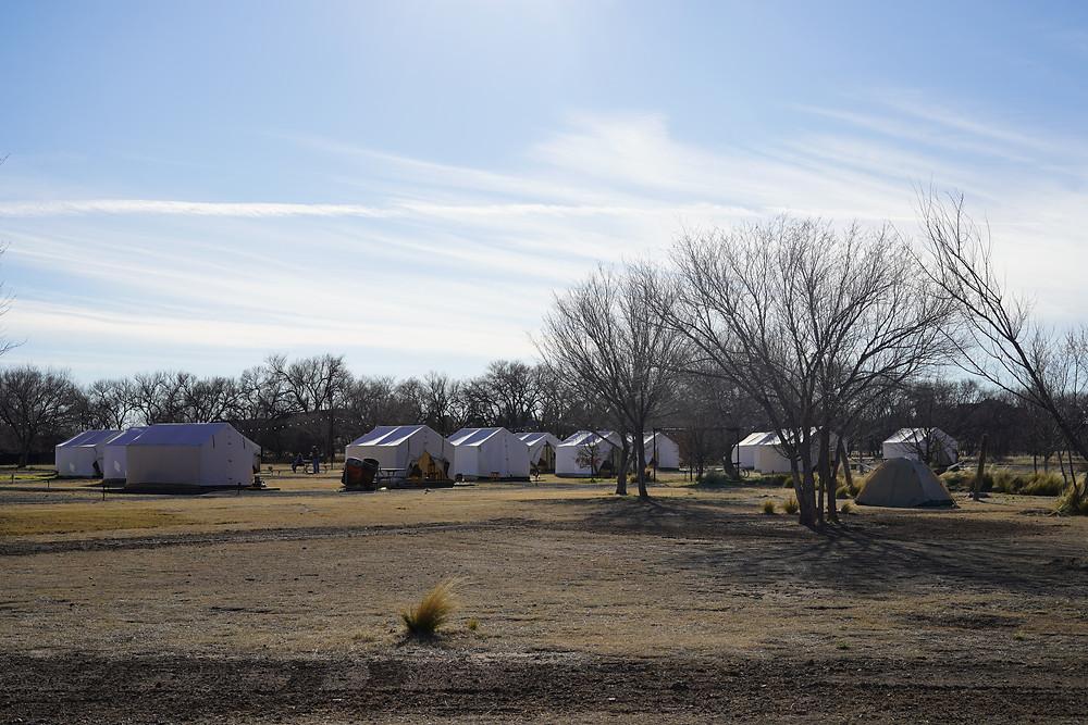 Tents at El Cosmico
