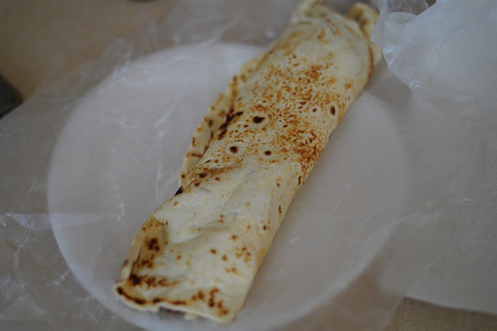 Food at Marfa Burrito
