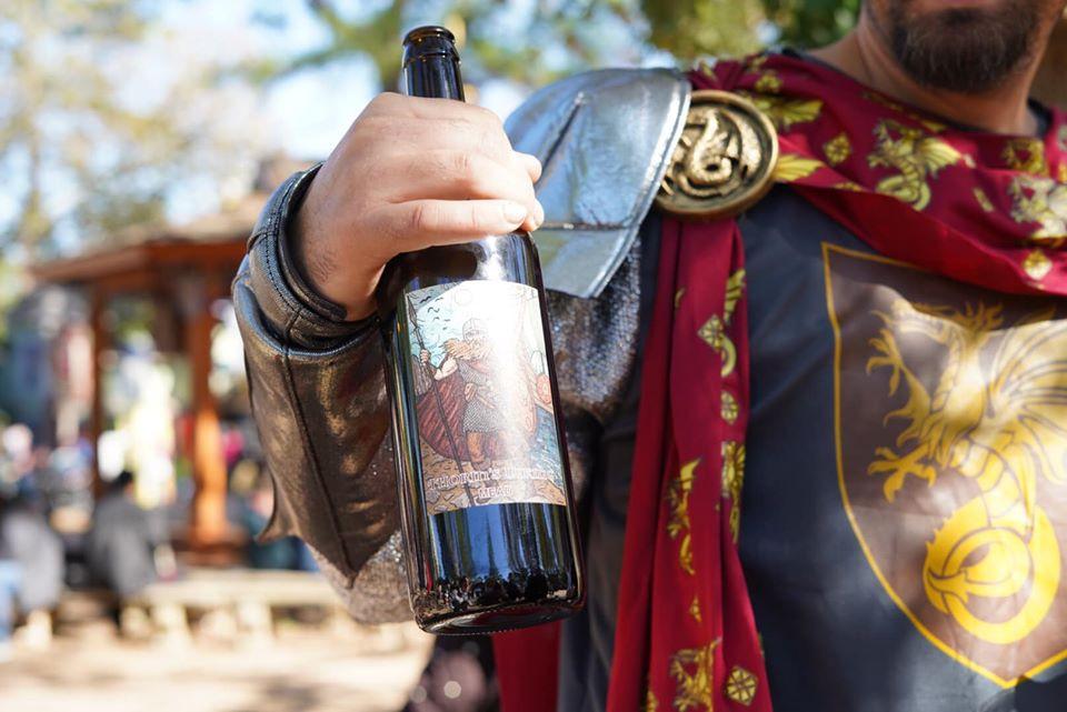 wine at Texas Renaissance Festival