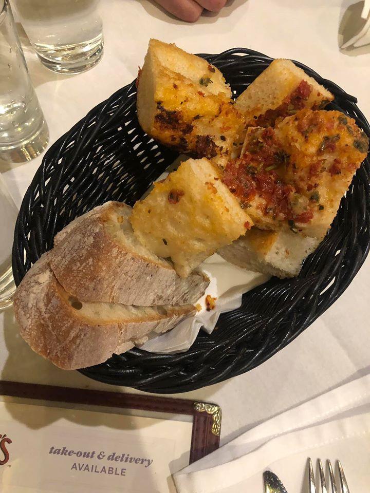 bread at Carmine's Italian Restaurant