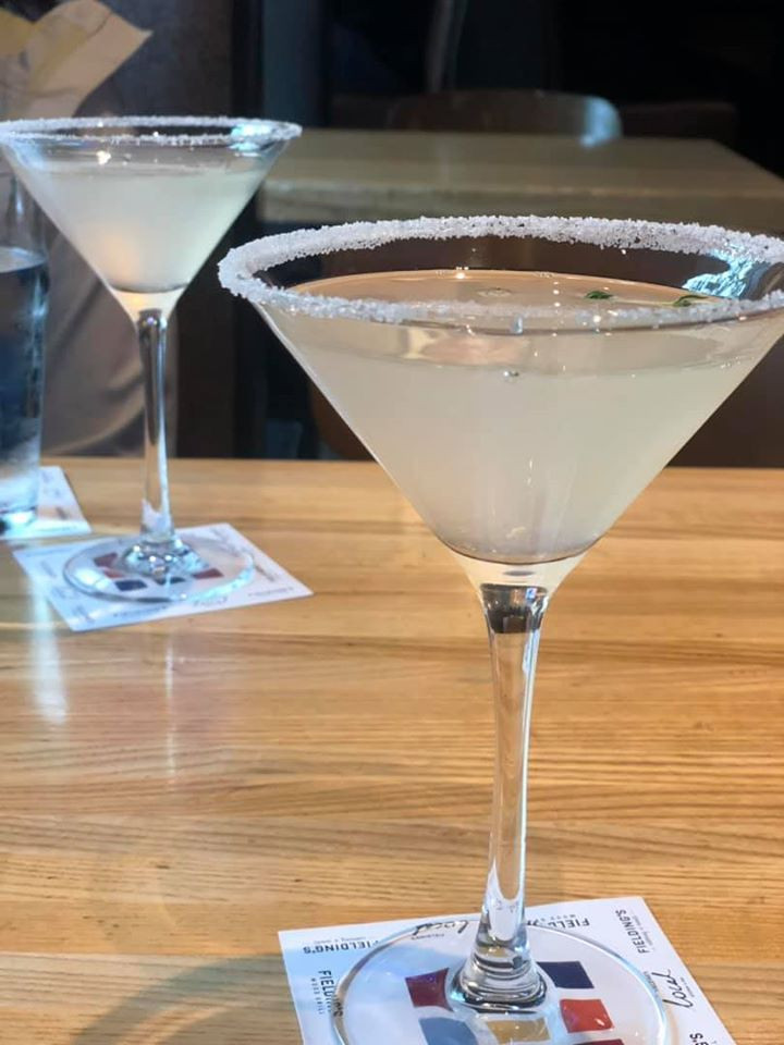 Lavender Thyme Lemondrop martini Fielding Wood Grill