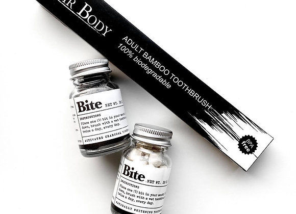 Bite Toothpaste Duo + Noir Body Toothbrush