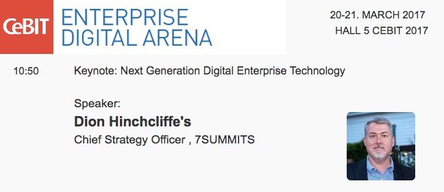 Dion Hinchcliffe to Keynote Enterprise Digital Arena at CeBIT 2017