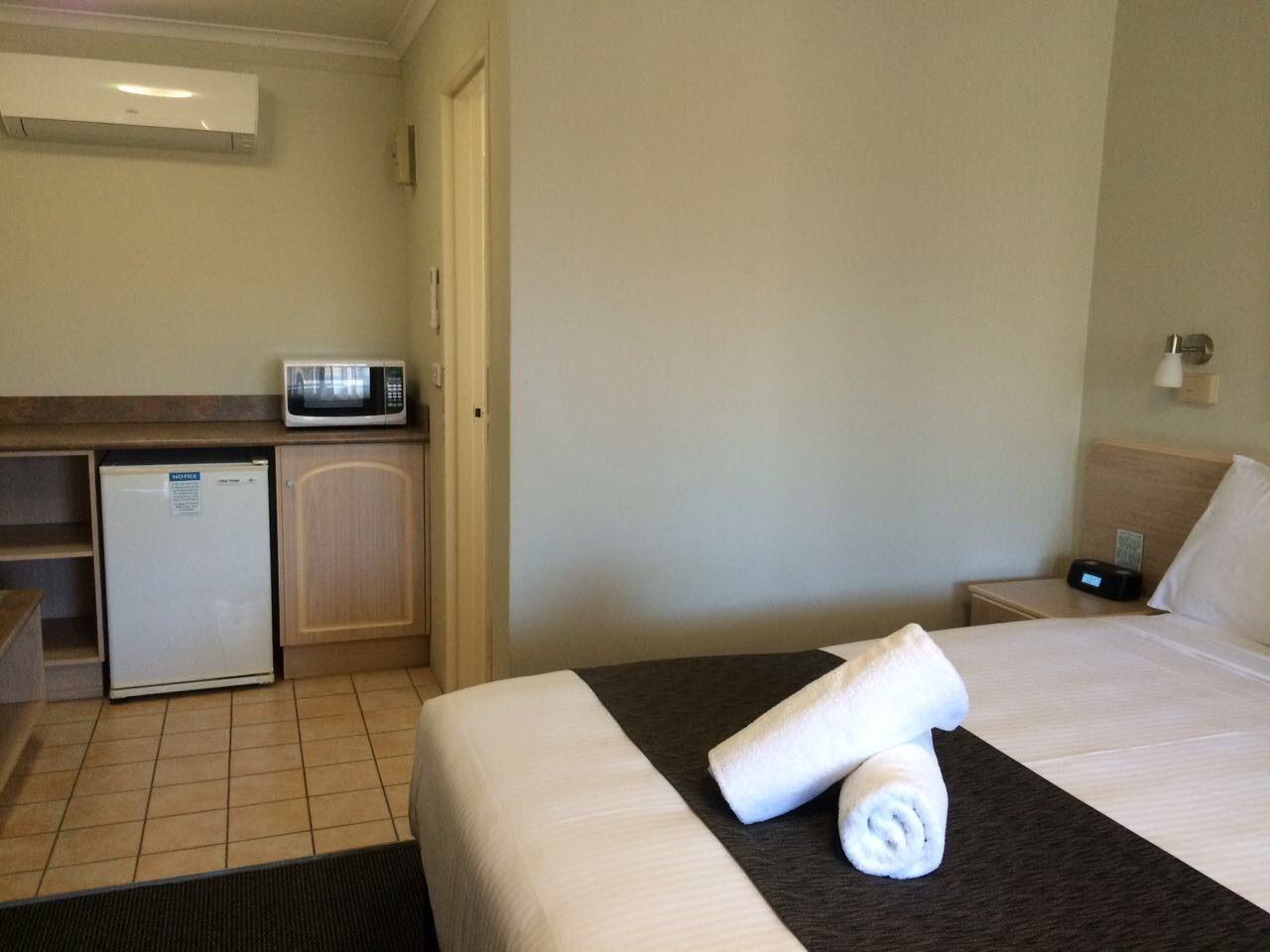 Microwaves in all Executive rooms