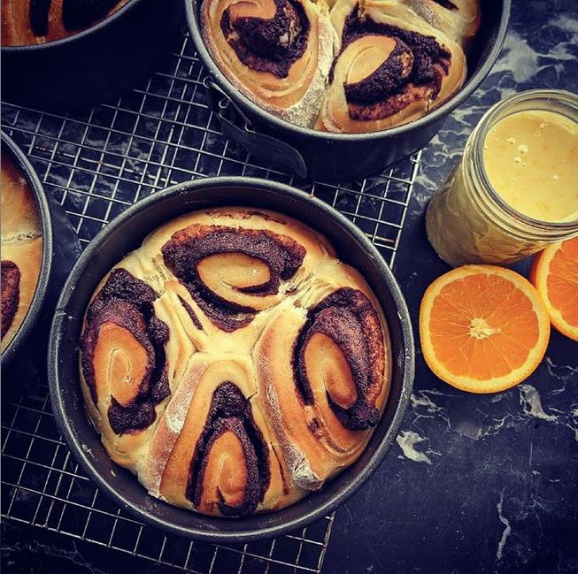 Chocolate Brioche with Citrus Glaze