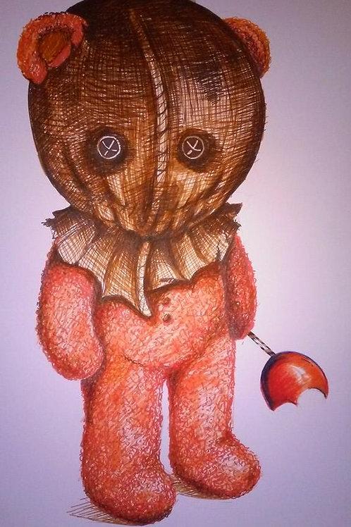 Scarecrow Bear Print