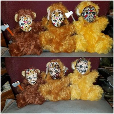 Mini Removable Jason Mask Bears