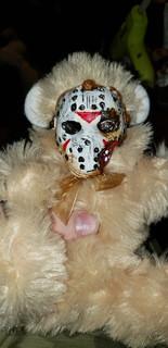 Removable Jason Mask Bear