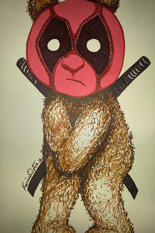 Deadpool Bear Print